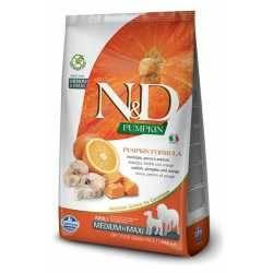 N&D Grain Free Dovleac Pește & Portocală Căine Adult Mediu Maxi 12 Kg