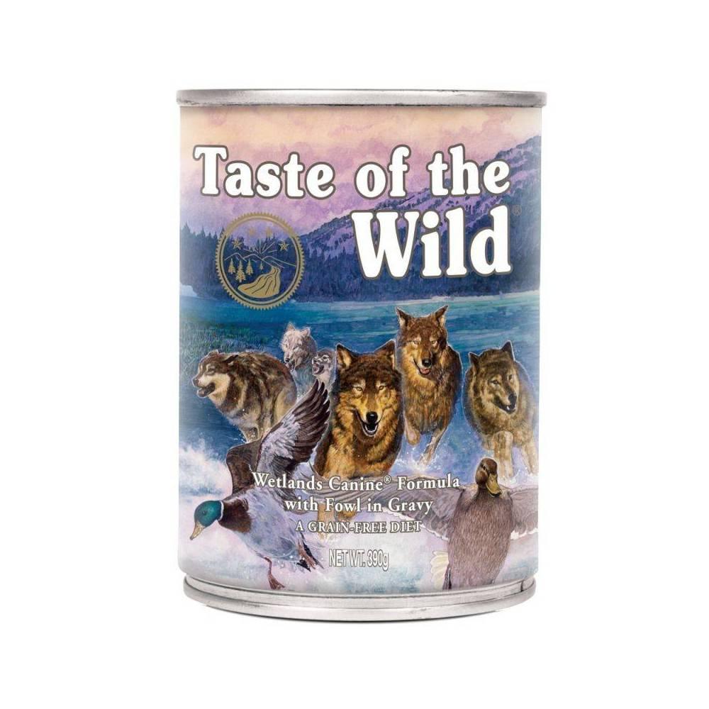 Taste of the Wild Wetlands® Formulă Canină cu Pasăre în Sos 390g