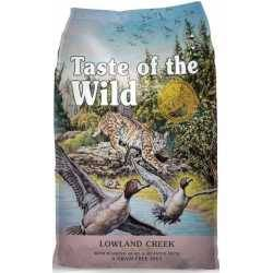 Taste of the Wild Lowland Creek® Formulă pentru Feline cu Prepeliță Friptă și Rață Friptă 6,6kg