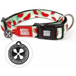 Max & Molly Watermelon. Dog Collar