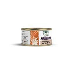 Vigor & Sage Mâncare umedă pisici. Somon și Rădăcină Crin.