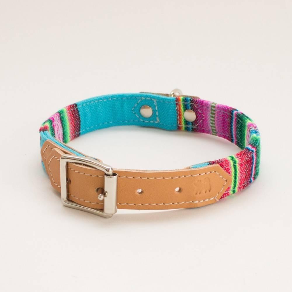 Hiro + Wolf Inca Blue Dog Collar