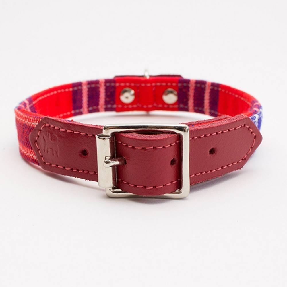 Hiro + Wolf Shuka Red Dog Collar