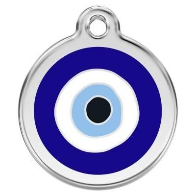 Medalioane Caini Evil Eye Dark Blue Red Dingo