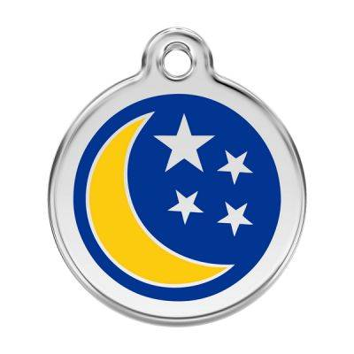 Red Dingo Medalioane Emailate Moon & Stars Dark Blue