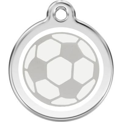 Medalioane Caini Soccer Ball White Red Dingo