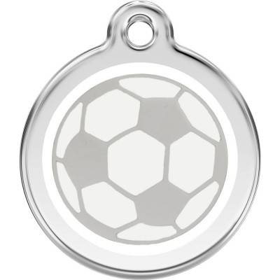 Red Dingo Medalioane Emailate Soccer Ball White