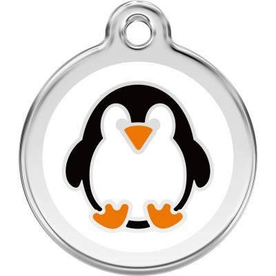 Red Dingo Medalioane Emailate Penguin White