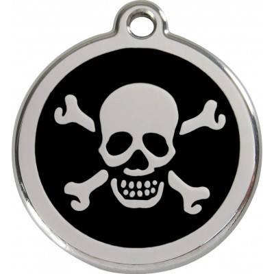 Medalioane Caini Skull & Cross Bones Red Dingo