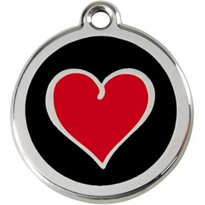 Medalioane Caini Heart Black Red Dingo