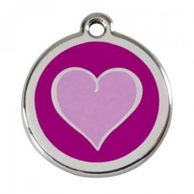 Medalioane Caini Heart Purple Red Dingo
