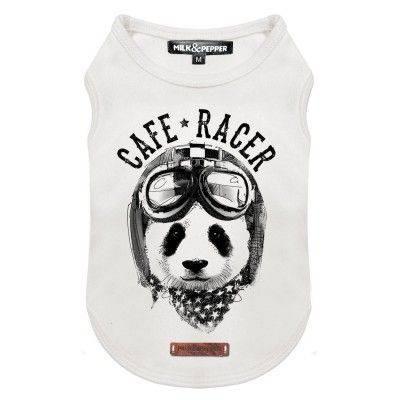Tricou Caini Panda Racer Milk & Pepper