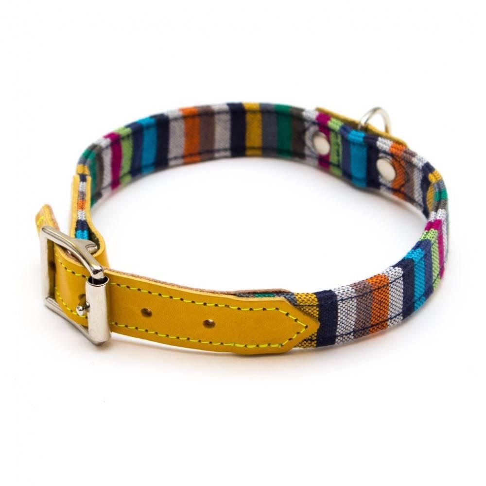Hiro + Wolf Kikoy Botanical Stripe Dog Collar