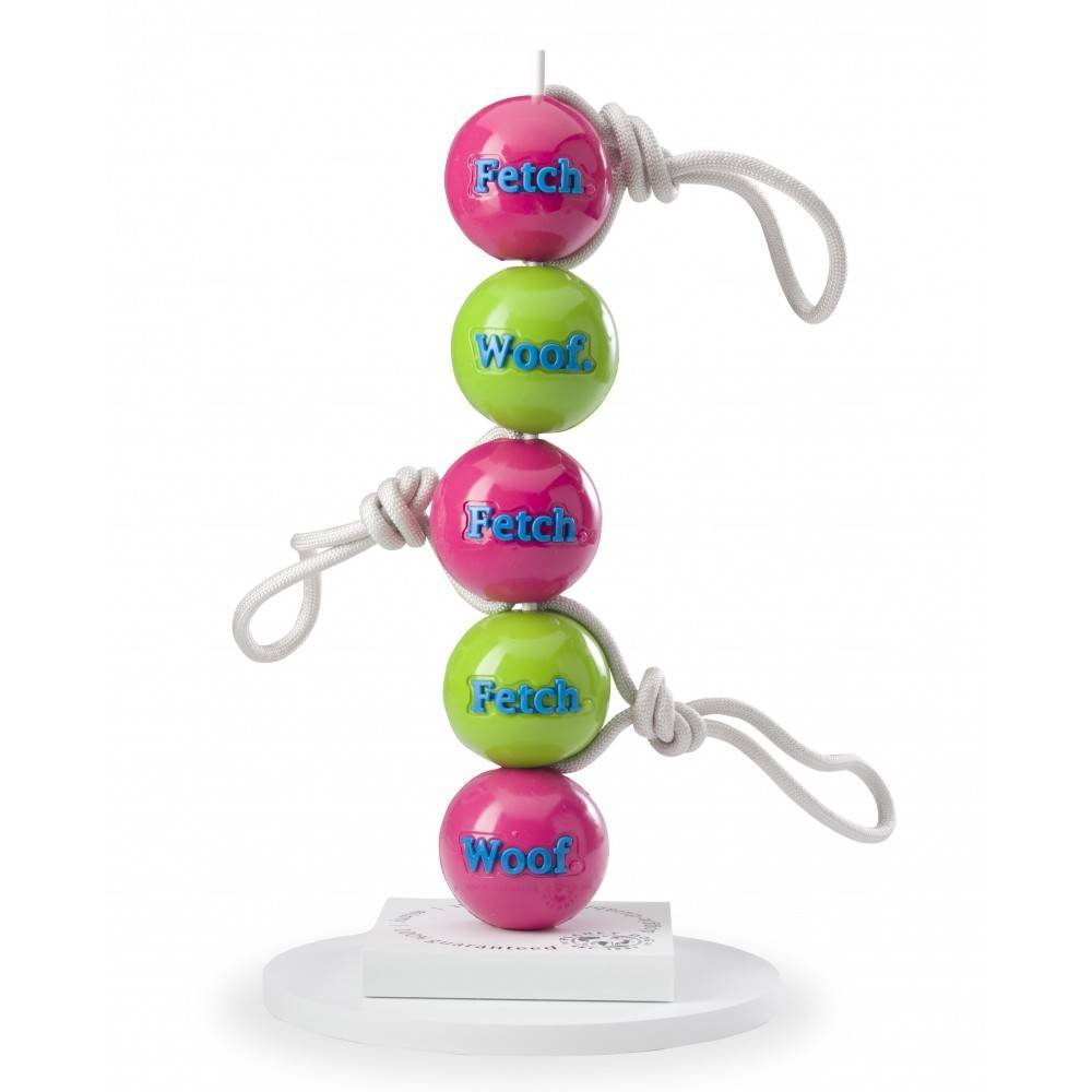 Planet Dog Orbee Tuff Fetch Ball with Rope